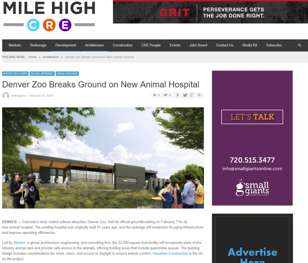 7 News Denver Zoo: Mile High CRE Features Denver Zoo Animal Hospital